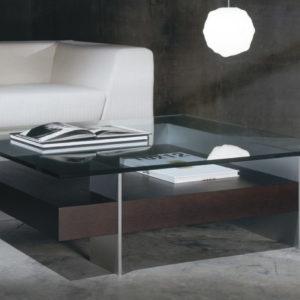 table basse kendo bois et verre