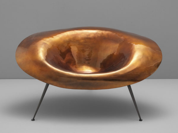 fauteuil contemporain bronze